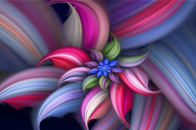 Beautiful Rainbow Flower HD Wallpaper