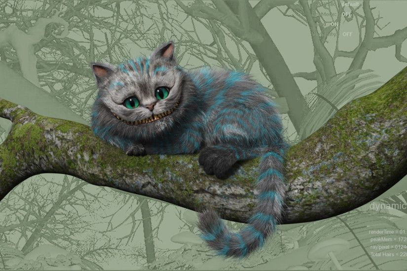 Alice in Wonderland, cat, Cheshire Cat, branch