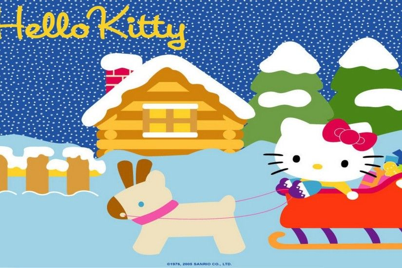 Hello Kitty Christmas Background 577092