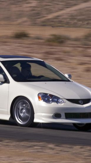 1440x2560 Wallpaper acura, rsx, white, rear view, style, cars, speed