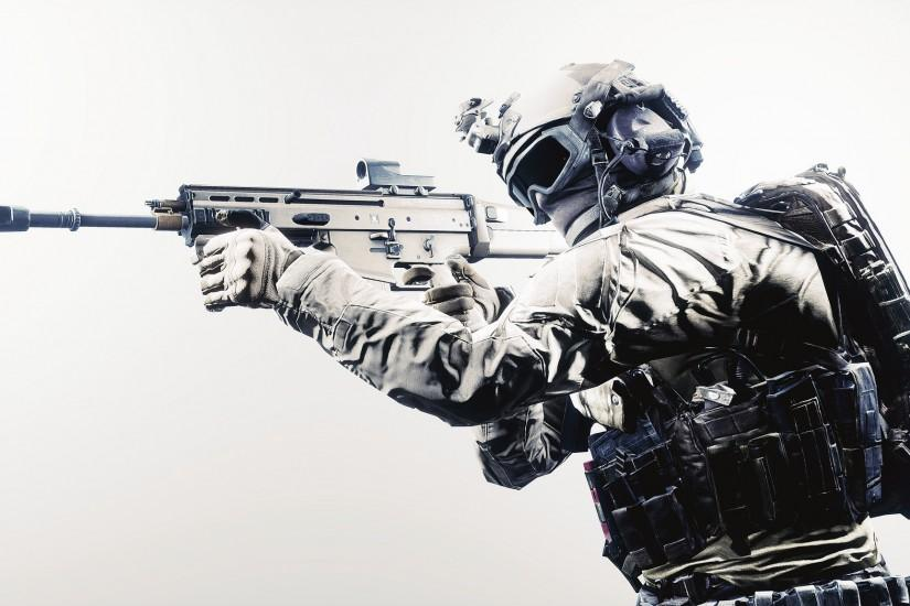 2048x1152 Wallpaper battlefield 4, guns, soldiers, equipment