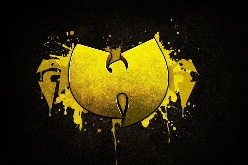 wu-tang clan yellow black hardcore hip-hop music logo wallpaper