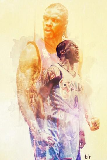 russell westbrook wallpaper 1280x1920 full hd