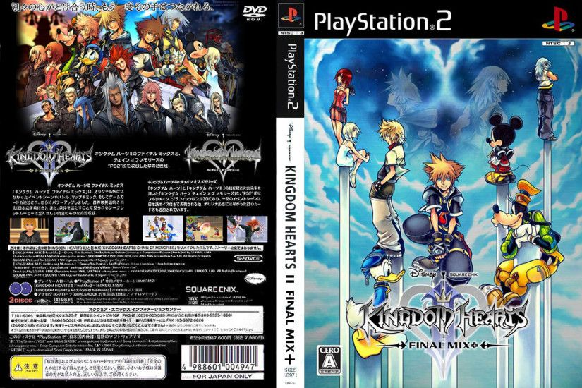 Kingdom Hearts II - Final Mix + (JPN)_300dpi Cover Download • Sony  Playstation 2 Covers • The Iso Zone