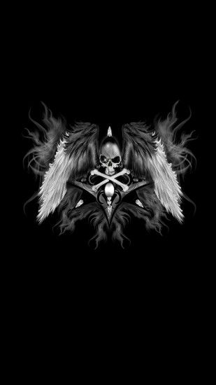 Dark Skull Wings iPhone Wallpaper resolution 1080x1920