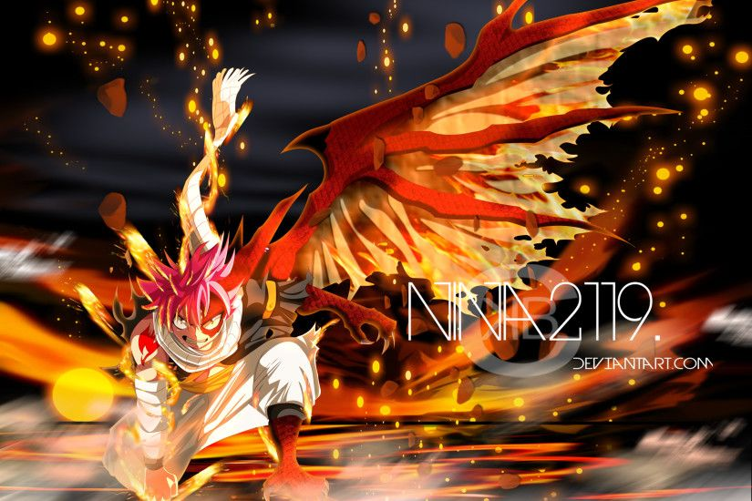 Anime - Fairy Tail Natsu Dragneel Fire Scarf Wallpaper
