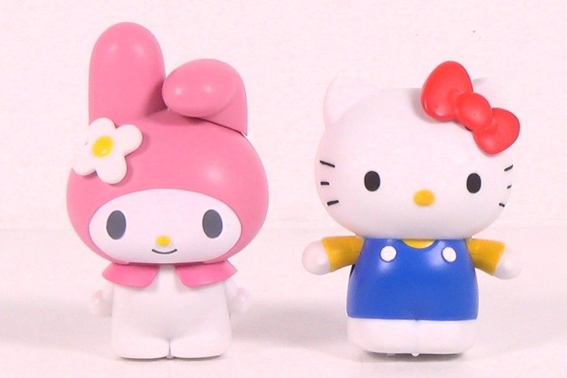 Sanrio My Melody & Hello Kitty Movin' Movin' Windup Toys by Takara Tomy -  Toy Unboxing - YouTube