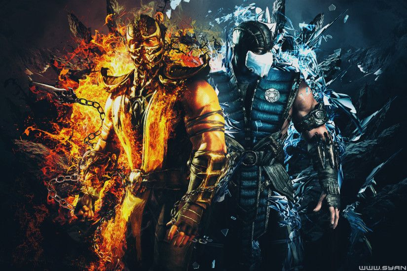Mortal Kombat Scorpion Vs Sub Zero Wallpaper ·①