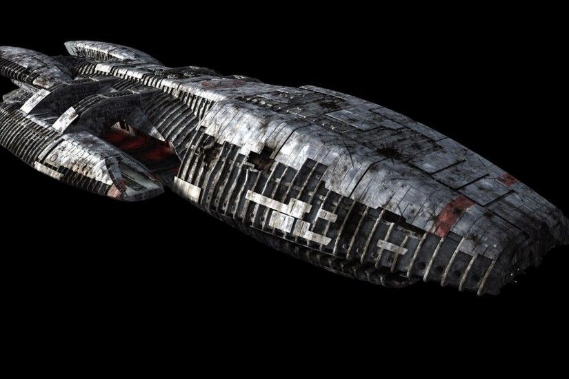 Battlestar Galactica spaceship wallpaper