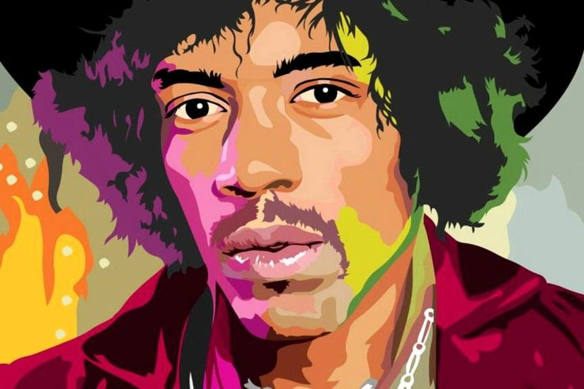 Jimi Hendrix Animation | Music pictures | Background images