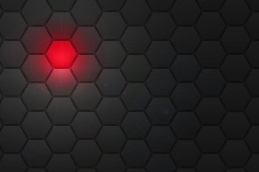 Download now full hd wallpaper red light hexagon ...