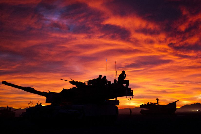 M1A1 Abrams Tank Military Sunrise Tanks United States Marine Corps ...