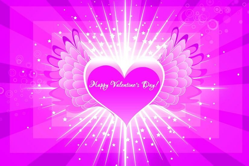 Heart with wings happy valentines day hd wallpaper images