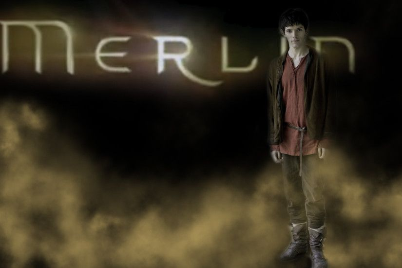 Merlin Gold Fog Wallpaper by PirateFairy Merlin Gold Fog Wallpaper by  PirateFairy