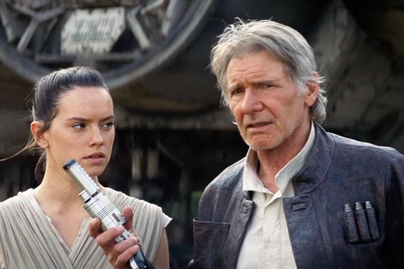Movie - Star Wars Episode VII: The Force Awakens Harrison Ford Daisy Ridley  Rey (