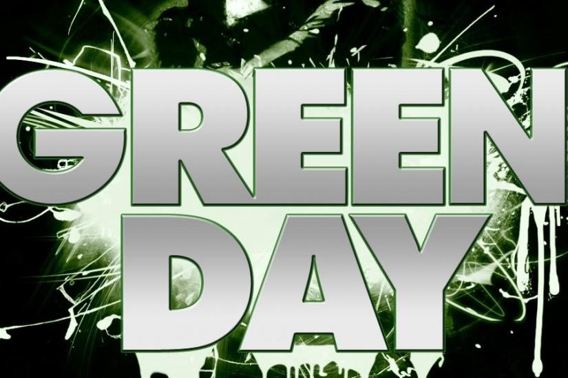 Preview wallpaper green day, letters, darkness, sign, kiss 3840x1200