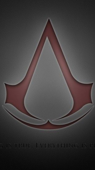 Preview wallpaper assassins creed, assassins symbol, red, background, quote  1080x1920