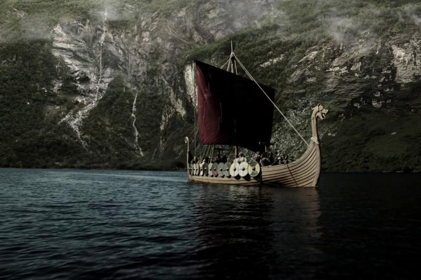 nordic ship images | Red sail of a Viking ship wallpapers and images -  wallpapers,