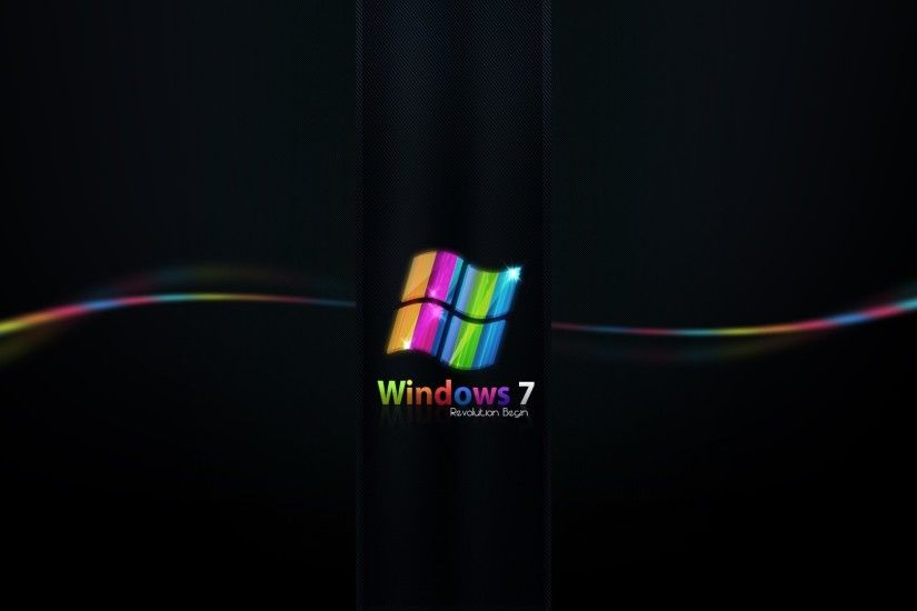 Preview wallpaper windows 7, rainbow, black, line 1920x1080
