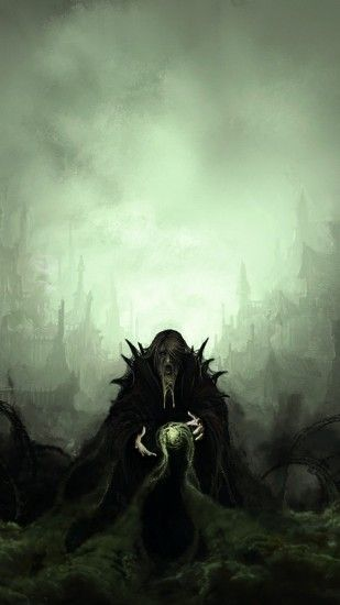 Necromancer, Smoke, Artwork, Crows, Dead, Underworld