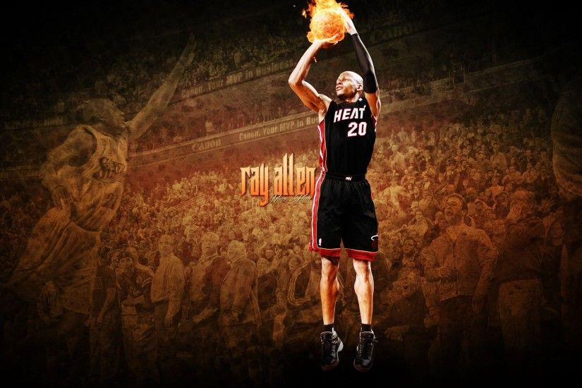 ... Ray Allen Miami Heat 906826 - WallDevil