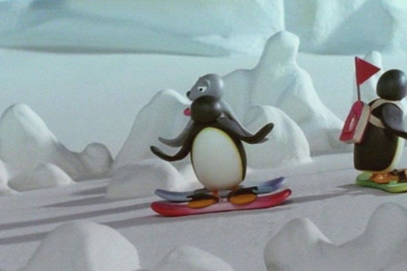 Fanarts / Wallpapers Pingu the Snowboarder (2)