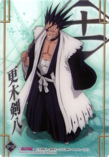 Tags: Anime, BLEACH, Zaraki Kenpachi, Mobile Wallpaper, Official Art, Gotei