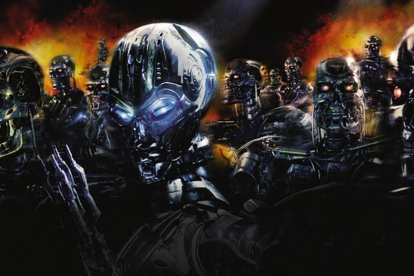 Movie - Terminator 3: Rise Of The Machines Army Terminator Wallpaper