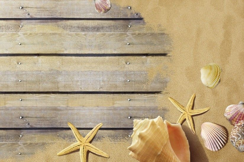 Seashells Tag - Boardwalk Boards Seashells Shells Star Fish Summer Sand  Warm Dock Wood Conch Beach