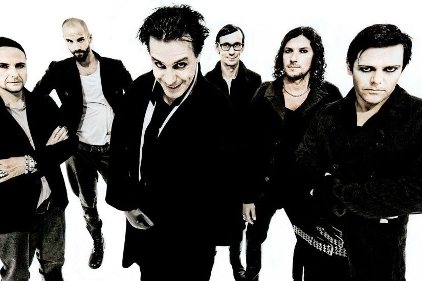 Wallpaper rammstein makeup black and white band 1920x1080