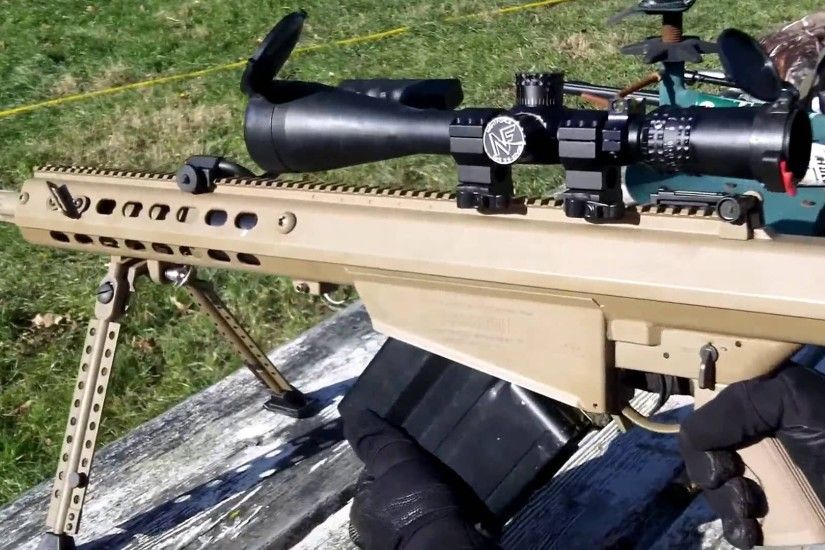 Barret M107 50 Cal BMG QDL Suppressed with Subsonic Ammo QUIET - YouTube