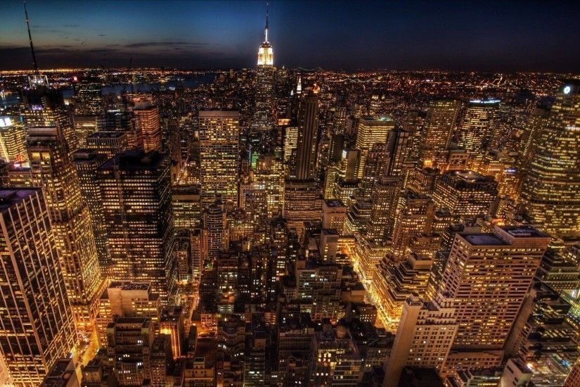 Aerial View Of New York City HD desktop wallpaper High