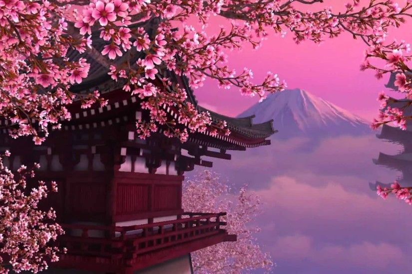 cherry blossom theme background images