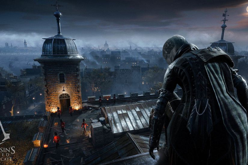 Evie Frye on a roof VS Guards - Assassin's Creed Syndicate 1920x1080  wallpaper