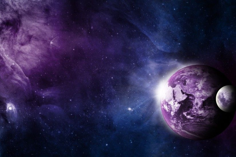 Preview wallpaper earth, moon, space, galaxy 1920x1080