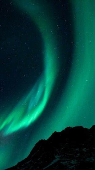Preview wallpaper northern lights, night, night sky, phenomenon 1440x2560