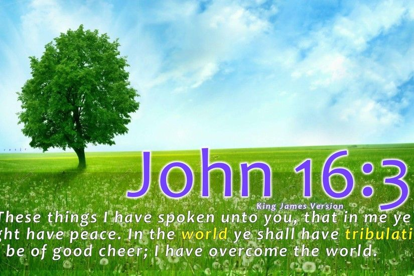 John Bible Verse Quotes Desktop Photo - 1920x1080
