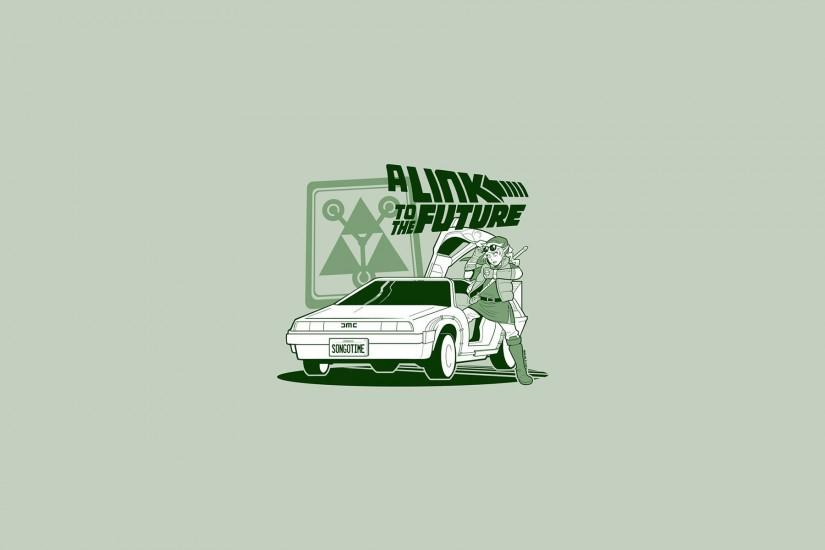 Back To The Future Cars Cartoons Comics DeLorean DMC-12 Doc Brown Funny  Link Marty McFly Spoof Legend Of Zelda Wallpaper