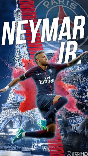 Neymar Jr PSG Phone wallpaper 2017/2018