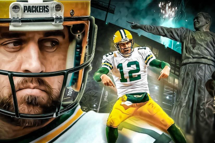 "FandomMade today this Aaron Rodgers ""The Man"" Wallpaper (16:9). Feedback is  very much appreciated."