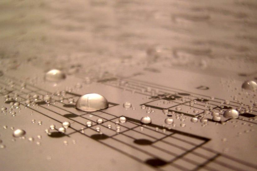 Water Drops On Sheet Music wallpapers HD free - 279840