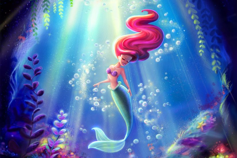 Ariel-the-Little-Mermaid-Disney-Fine-Art-wallpaper-