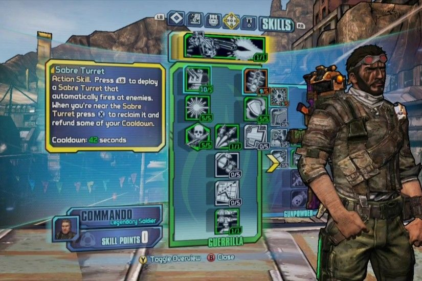 Borderlands 2 - Guerrilla Commando Build - Just me and my Sabre taking care  of business! - YouTube