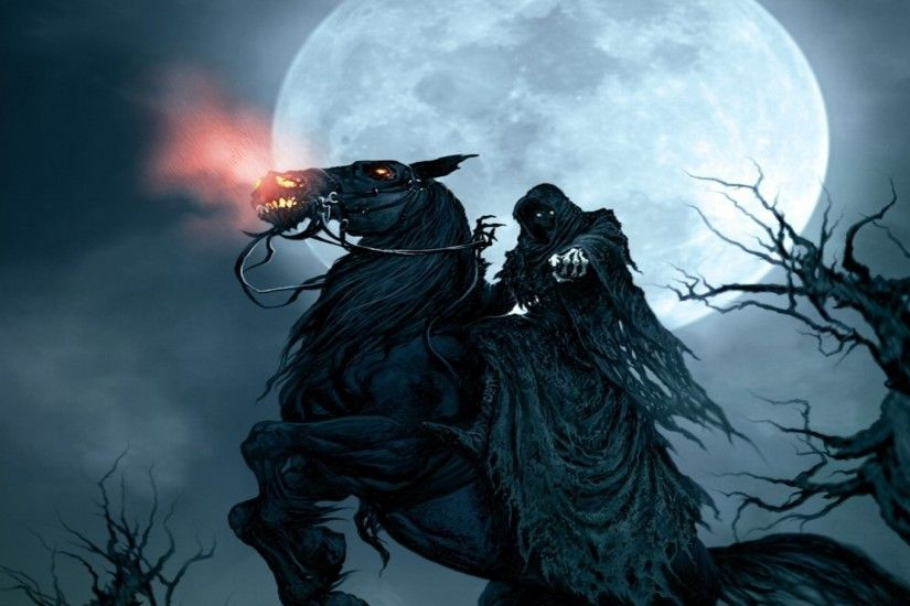 Grim Reaper On Horse Wallpaper Full Hd