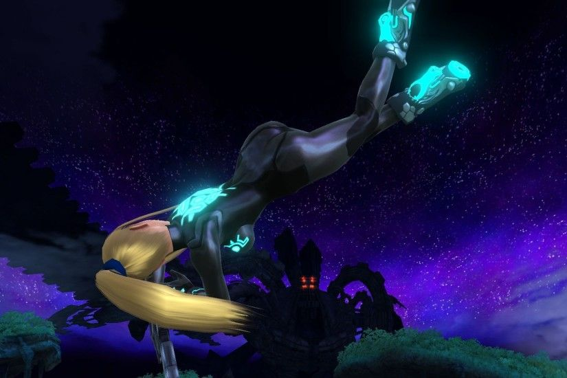... Cyan Glowing Black Zero Suit Samus ...