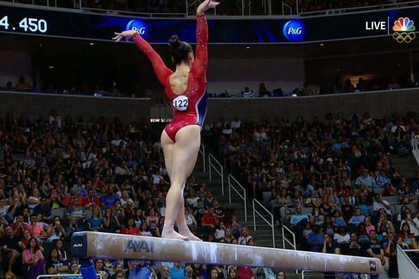 Aly Raisman scores 14.800 on balance beam at Olympic Trials | NBC Olympics