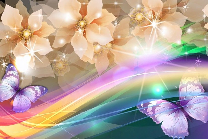 Rainbow Butterfly Abstract Background | Bing Gallery ...