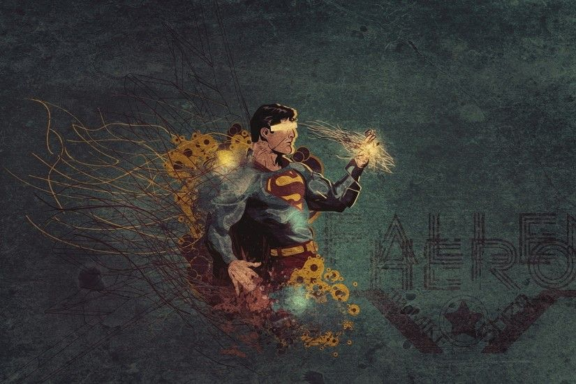 Preview wallpaper superman, drawing, vector, black 1920x1080
