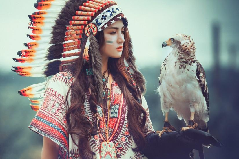 Horse Native American Woman · HD Wallpaper | Background ID:724203