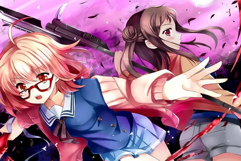 Anime - Beyond The Boundary Mirai Kuriyama Sakura Inami Wallpaper